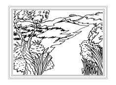 image result printable scenery landscape free colorforms