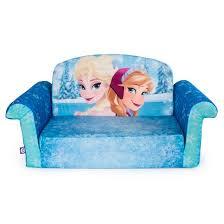marshmallow children u0027s 2 in 1 flip open foam sofa disney frozen