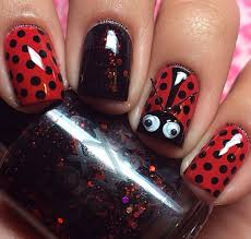 ladybug nail art tutorial trendy fashion jewelry kitsy lane