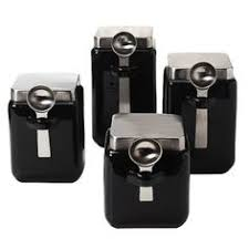 black kitchen canisters target mobile site oggi 4 stainless steel canister set