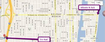map of delray downtown delray access take the downtown roundabout trolley