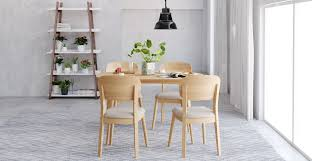 Set Table by Mia 5 Piece Dining Set Table And 4 Chairs Designer Furniture