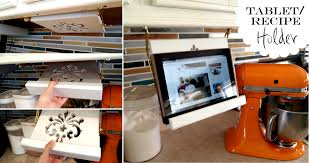 diy tablet recipe book holder under cabinets reality daydream