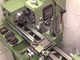 emco emcomat 8 6 lathe with milling head youtube