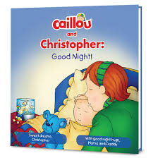 caillou good night personalized book put story