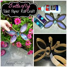 diy butterfly toilet paper roll craft for kids crafty morning
