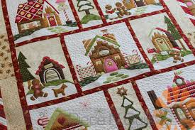 piece n quilt gingerbread village quilt custom machine quilting