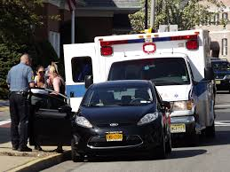 car vs bicycle crash at busy ridgewood intersection cyclist is
