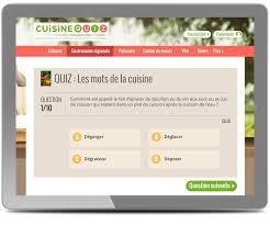 quiz cuisine webdesigner pour le site cuisine quiz