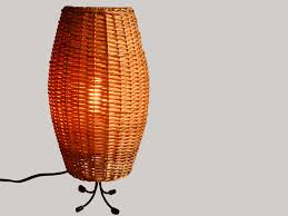 Wicker Table Lamp with Cool Vintage Wicker Table Lamp Mid Century Italian Design Table