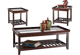 Santos Espresso  Pc Table Set Table Sets Dark Wood - Table and chairs for living room