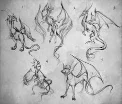 dragon sketches by giselleukardi on deviantart