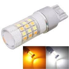 car brake light bulb mz t20 8w 420lm white yellow light 42 led 2835 smd car brake light