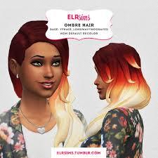 custom hair for sims 4 sims 4 custom hair ombre hair non default recolor inspired by