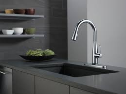 Electronic Kitchen Faucets Faucet Com 9113t Dst In Chrome By Delta