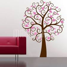 wall decals swirly tree leaves wall stickers