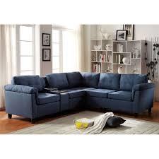 Reversible Sectional Sofa Acme Furniture 515 Cleavon Reversible Sectional Sofa With Console