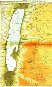Map Of Moab Utah by Biblical Maps