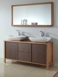 bathroom elegant wall mirror with shallow shelf design idea feat