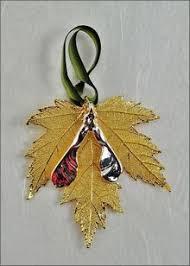 leaf ornaments silver maple leaf