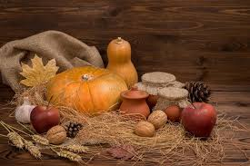 autumn thanksgiving still with pumpkins apple ga