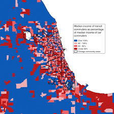 Blue Line Chicago Map The Weird Economic Geography Of Transit Use In Chicagoland U2013 City