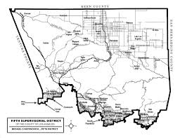 County Map Of Los Angeles by Antonovich District Map