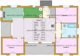plan maison 3 chambre plain pied plan maison 70m2 plein pied modele maison 100m2 combles amenageables