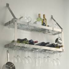 furniture cool stainless steel wine glass rack and wine rack for