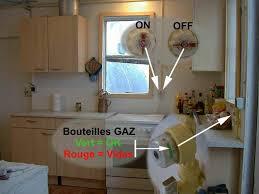 robinet de gaz cuisine station ouverture