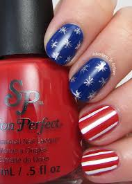 fourth of july nail art ideas with salon perfect rockin u0027 the red