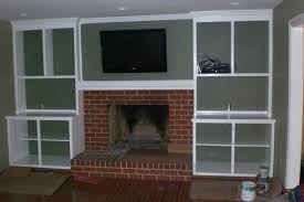 built in fireplace bookshelves home design ideas around plans