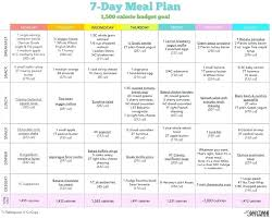 printable meal planner with calorie counter meal planner for weight loss template