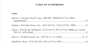 Federal Sentencing Table Table Of Authorities U2013 The Ultimate Guide Legal Office Guru