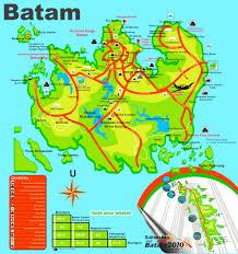map batam batam tourist map