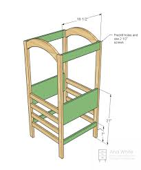 Woodworking Stool Plans For Free by Ana White The Little Helper Tower Diy Projects