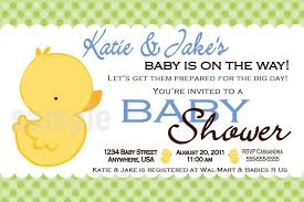baby shower invitations stylish duck baby shower invitations