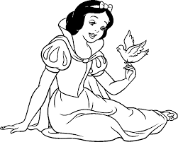 snow white coloring pages from disney princess cartoon coloring