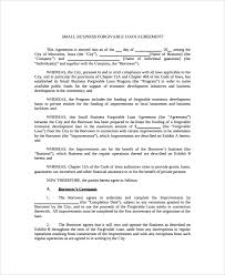 sample business loan agreement 6 free documents download in