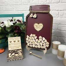 black wedding guest book wedding guest book alternative guestbook jar drop box