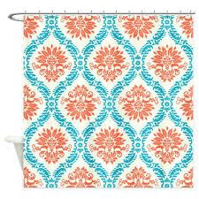 Orange And Blue Curtains Aqua And Orange Curtains Image For Blue And Orange Kitchen