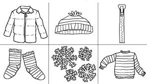 free coloring pages winter clothes winter coloring pages