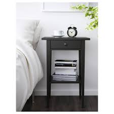 Modern Black Nightstand Furniture Black Nightstand With White Blanket Mattress And Brown