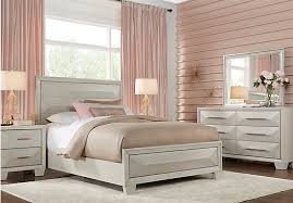 Bedroom Premium Sofia Sofia Vergara Cambrian Court White 5 Pc Queen Panel Bedroom
