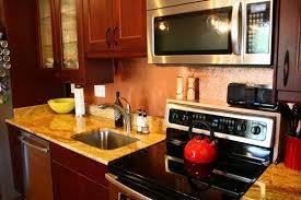 copper backsplash for kitchen hammered copper backsplash kitchen 10891