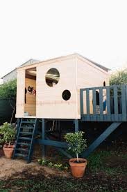 outside playhouse plans how to build your own modern playhouse outside pinterest