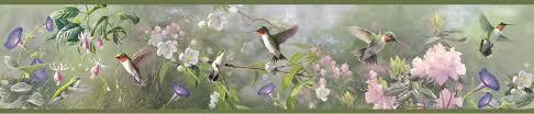 hummingbirds wallpaper border scrap pinterest hummingbird