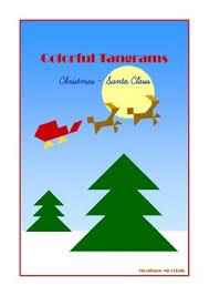 tangram 20 christmas santa claus puzzles puzzle cards u0026 math