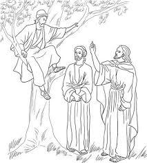 Jesus Meets Zacchaeus Coloring Page Free Printable Coloring Pages Zacchaeus Coloring Page