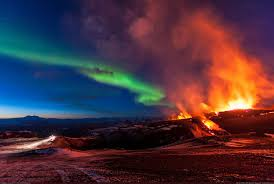 when are the northern lights visible in iceland volcano and the northern lights as seen from iceland work of